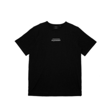 (50%SALE) [Black Hoody]Line Logo T-Shirt - Black