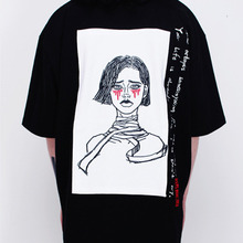[Nine Octopus]Girl T-Shirts - Black