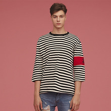 [Silers X Union Objet] Stripe Arm Band Tee - Black