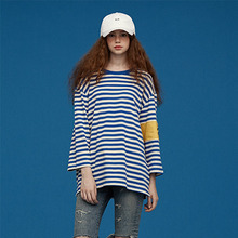 [Silers X Union Objet] Stripe Arm Band Tee - Blue
