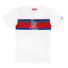 L Wing Stripe Tee - White