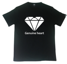 [Genuine Heart]Diamond Heart Logo Tee - Black