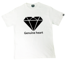 [Genuine Heart]Diamond Heart Logo Tee - White