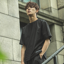 [Dair Len Mode] Wide Sleeve 1/2 Tee - Black