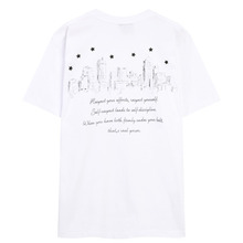 [THEDOSI] (20%세일) (남여공용) Basic City Logo T-Shirt - White