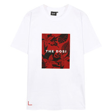 [THEDOSI] (20%세일) (남여공용) Red Flower Printing T-Shirt - White