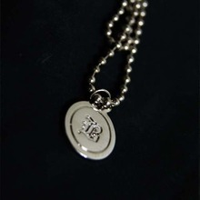 [Blessed Bullet] Ball Chain Coin Necklace
