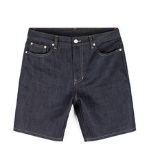 [Piece Worker]Raw Short - Indigo Blue / Little Half