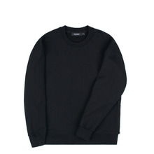[Piece Worker]Heavy sweat shirt side zipper - Black