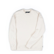 [Piece Worker]Heavy sweat shirt side zipper - Ivory
