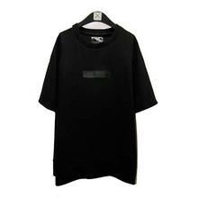 [Blessed Bullet]Raglan Leather Patch T-Shirts - Black/White