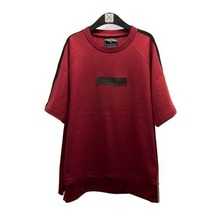 [Blessed Bullet]Raglan Leather Patch T-Shirts - Black/Red