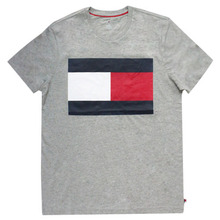 [Tommy Hilfiger] Box Logo Short Tee - Grey