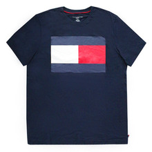 [Tommy Hilfiger] Box Logo Short Tee - Navy