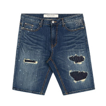 [STIGMA]SPIDER DENIM SHORT PANTS BLUE