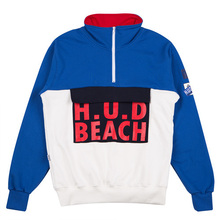 [HOUNDVILLE] H.U.D Half Zip-Up - Blue