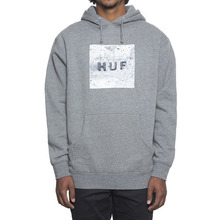 [HUF] Concrete Bar Logo Pullover - Grey