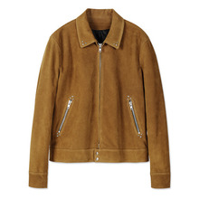 [Andersson Bell] KIEV STUDDED SUEDE JACKET awa061- Tan