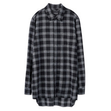 [Andersson Bell] MONACO CHECK LONG SHIRT atb095 - Black