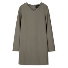 [Andersson Bell] SLIT CUFFS MODERN DRESS atb097 - Khaki