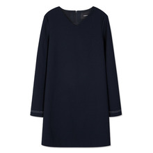 [Andersson Bell] SLIT CUFFS MODERN DRESS atb097 - Navy