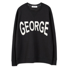 [Andersson Bell] UNISEX APPLIQUE NAME SWEATSHIRT atb101 - Black