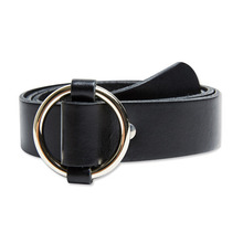 [Andersson Bell] O RING LEATHER BELT aaa037 - Black
