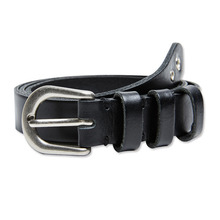 [Andersson Bell] EYELET LEATHER BELT aaa038 - Black