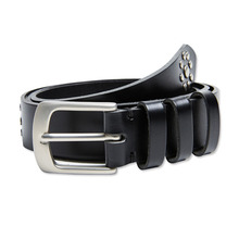 [Andersson Bell] EXOTIC LEATHER BELT aaa039 - Black