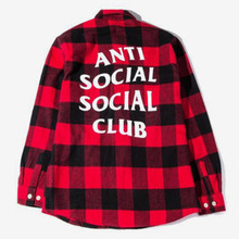 [Anti Social Social Club] Flannel Shirts - Red
