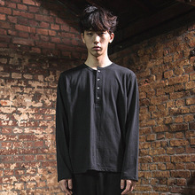[DAIR LEN MODE]Unbalance Button Tee - Black