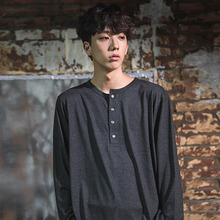 [DAIR LEN MODE]Unbalance Button Tee - Grey