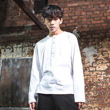 [DAIR LEN MODE]Unbalance Button Tee - White