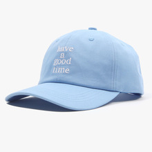 [Have a good time] Logo Baseball Cap - Light Blue