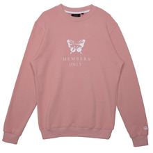 (50%SALE) [Black Hoody]Butterfly Crewneck Sweatshirt - Pink