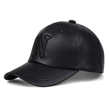 [Nasty Palm] Classic N Leather Cap - Black