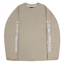 Basic Logo Foaming Printing Long Sleeve - Beige