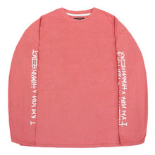 Basic Logo Foaming Printing Long Sleeve - Pink
