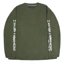 Basic Logo Foaming Printing Long Sleeve - Khaki