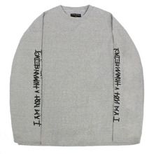 Basic Logo Foaming Printing Long Sleeve - Grey