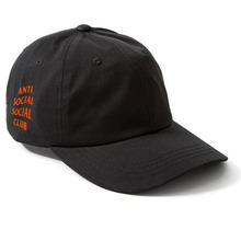 [Anti Social Social Club] Weird Cap - Black W/Orange