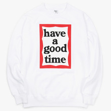 [Have a good time](30%세일) Frame Crewneck - White