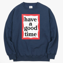 [Have a good time](30%세일) Frame Crewneck - Navy