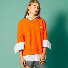 [Runninghigh] (40%세일) Side vent logo sweat shirts - Orange