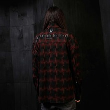 [Blessed Bullet] Divine Check Shirts - Black/Red