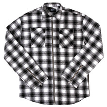 [Maremoto] TWO WAY ZIP-UP FLANNEL SHIRT SEASON2 - WHITE