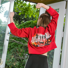 [Another A]Burning Crop Sweatshirt - Red