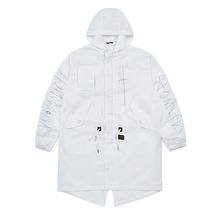 [STIGMA]CROSS OVERSIZED PARKA - WHITE