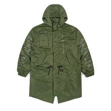 [STIGMA]CROSS OVERSIZED PARKA - KHAKI