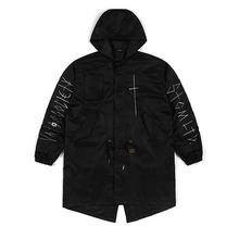 [STIGMA]CROSS OVERSIZED PARKA - BLACK
